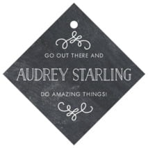 Vintage Chalkboard diamond hang tags