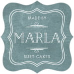 Vintage Chalkboard fancy square labels