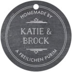 Vintage Chalkboard circle hang tags