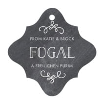 Vintage Chalkboard fancy diamond hang tags