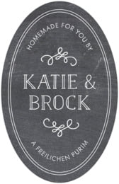 Vintage Chalkboard tall oval labels