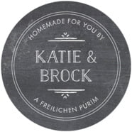 Vintage Chalkboard large circle labels