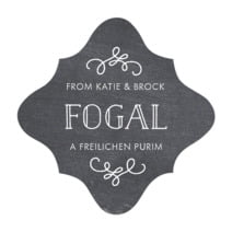 Vintage Chalkboard fancy diamond labels