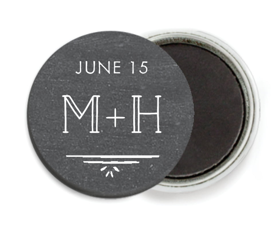 custom button magnets - chalkboard tuxedo - vintage chalkboard (set of 6)