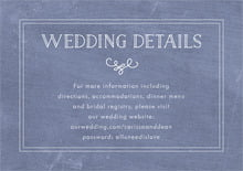 custom enclosure cards - chalkboard blue - vintage chalkboard (set of 10)