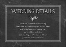 custom enclosure cards - chalkboard tuxedo - vintage chalkboard (set of 10)