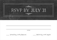 custom response cards - chalkboard tuxedo - vintage chalkboard (set of 10)