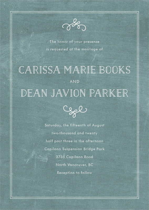 custom invitations - chalkboard green - vintage chalkboard (set of 10)