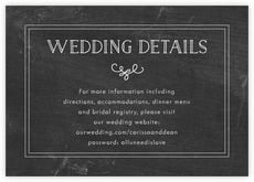 Vintage Chalkboard wedding enclosure cards