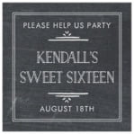 Vintage Chalkboard square labels