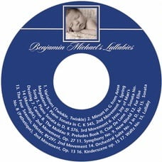 Vida baby shower CD/DVD labels