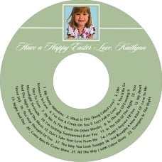 Vida Cd Label In Sage
