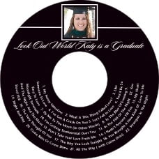 Vida graduation CD/DVD labels