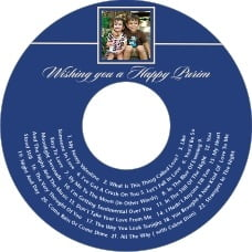 Vida Cd Label In Deep Blue