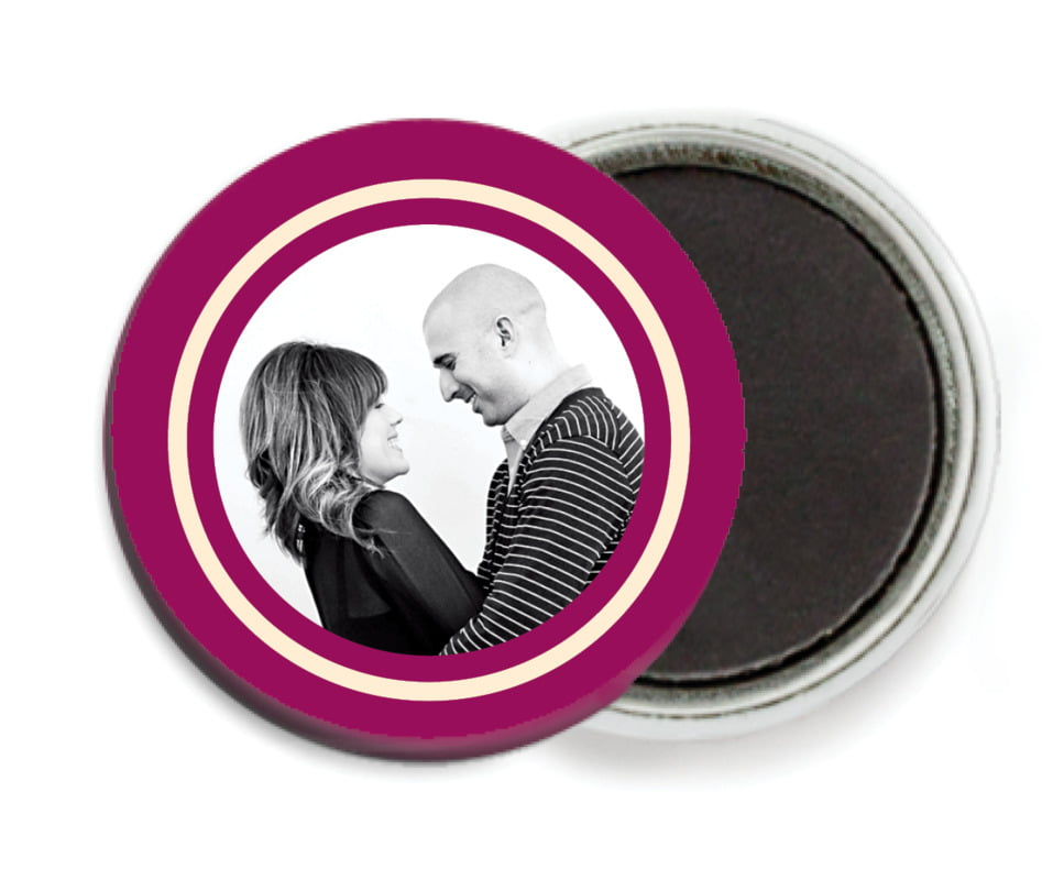 custom button magnets - burgundy - vida (set of 6)