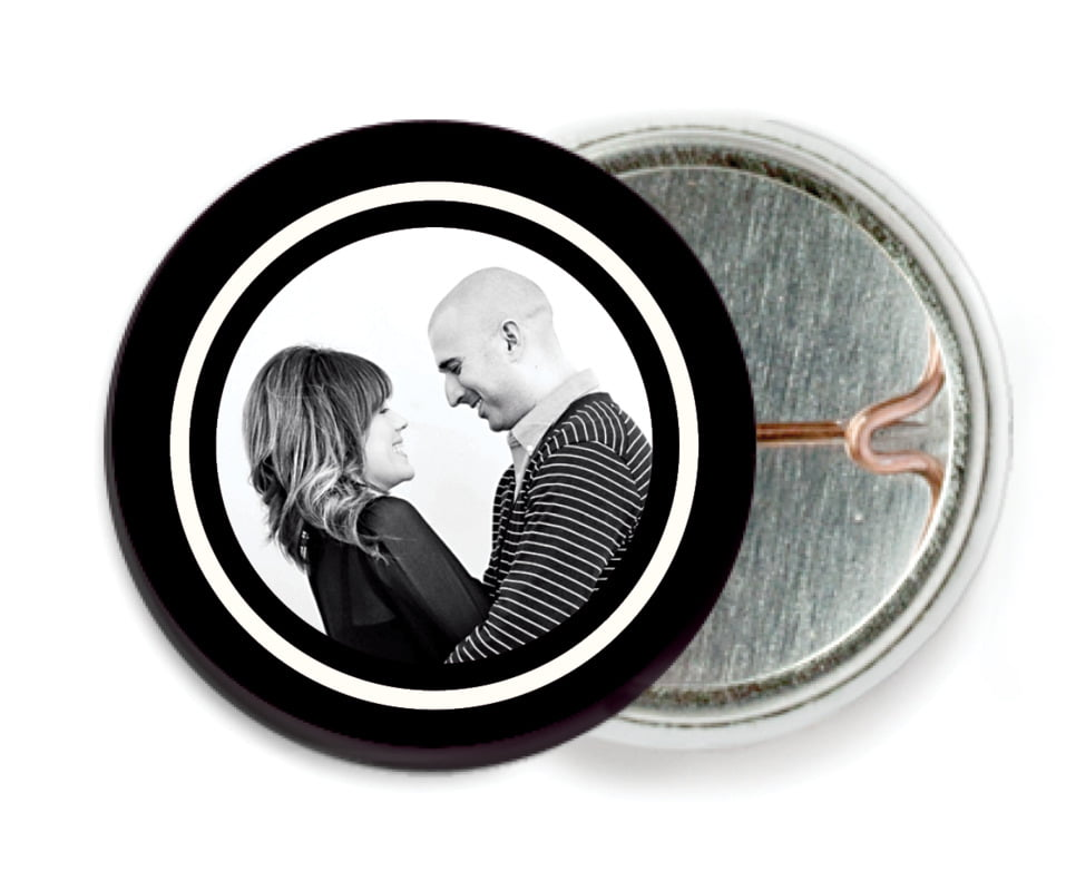 custom pin back buttons - tuxedo - vida (set of 6)