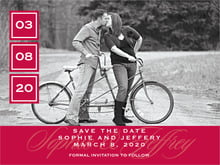 custom save-the-date cards - deep red - vida (set of 10)