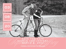 custom save-the-date cards - grapefruit - vida (set of 10)