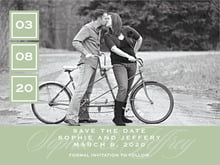custom save-the-date cards - sage - vida (set of 10)