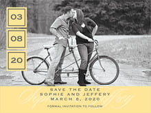 custom save-the-date cards - sunburst - vida (set of 10)