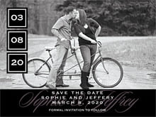 custom save-the-date cards - tuxedo - vida (set of 10)