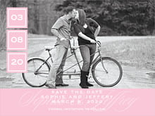 custom save-the-date cards - pale pink - vida (set of 10)