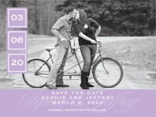 custom save-the-date cards - lilac - vida (set of 10)