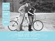 custom save-the-date cards - bahama blue - vida (set of 10)