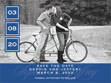 custom save-the-date cards - deep blue - vida (set of 10)