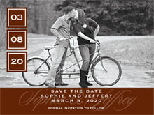 custom save-the-date cards - chocolate - vida (set of 10)