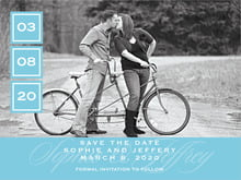 custom save-the-date cards - sky - vida (set of 10)