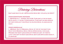 custom enclosure cards - deep red - vida (set of 10)