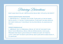 custom enclosure cards - blue - vida (set of 10)