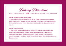 custom enclosure cards - burgundy - vida (set of 10)