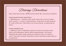 custom enclosure cards - cocoa & pink - vida (set of 10)