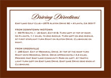 custom enclosure cards - chocolate - vida (set of 10)