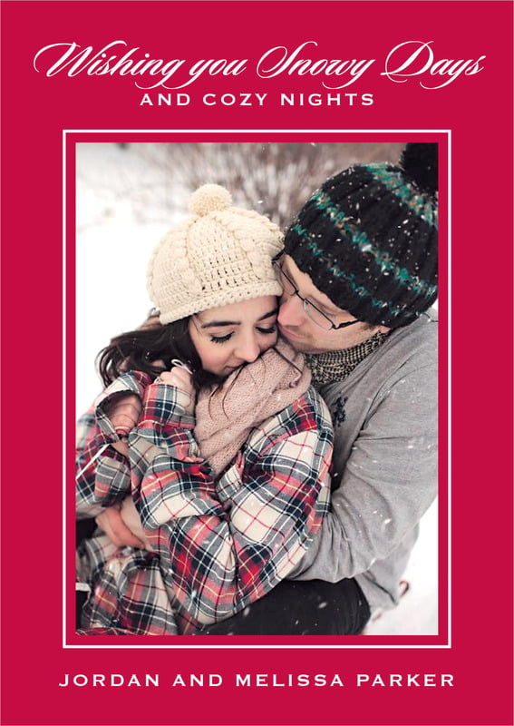 holiday cards - deep red - vida (set of 10)