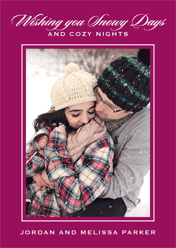 holiday cards - burgundy - vida (set of 10)