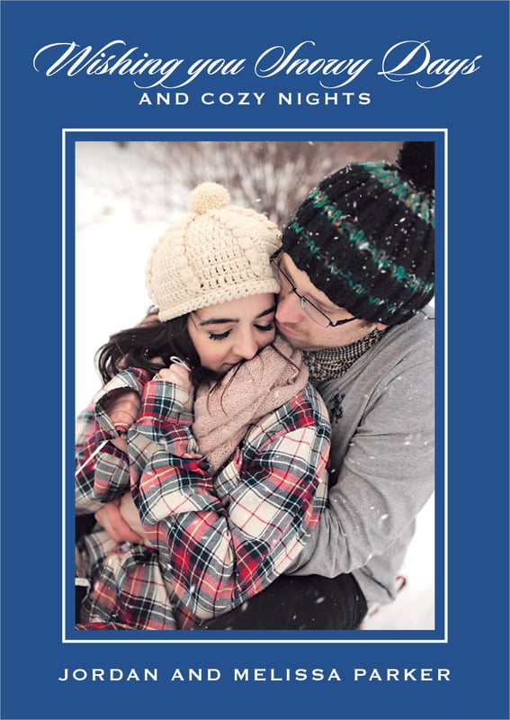 holiday cards - deep blue - vida (set of 10)