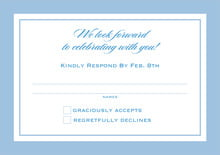 custom response cards - blue - vida (set of 10)