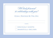 custom response cards - periwinkle - vida (set of 10)