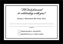 custom response cards - tuxedo - vida (set of 10)