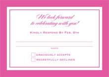 custom response cards - bright pink - vida (set of 10)