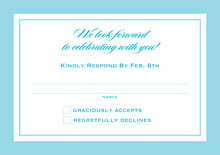 custom response cards - bahama blue - vida (set of 10)