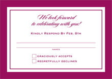custom response cards - burgundy - vida (set of 10)