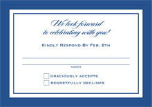 custom response cards - deep blue - vida (set of 10)