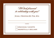custom response cards - chocolate - vida (set of 10)