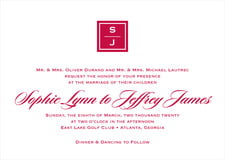 custom invitations - deep red - vida (set of 10)