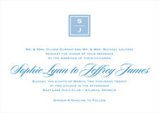 custom invitations - blue - vida (set of 10)
