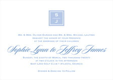 custom invitations - periwinkle - vida (set of 10)